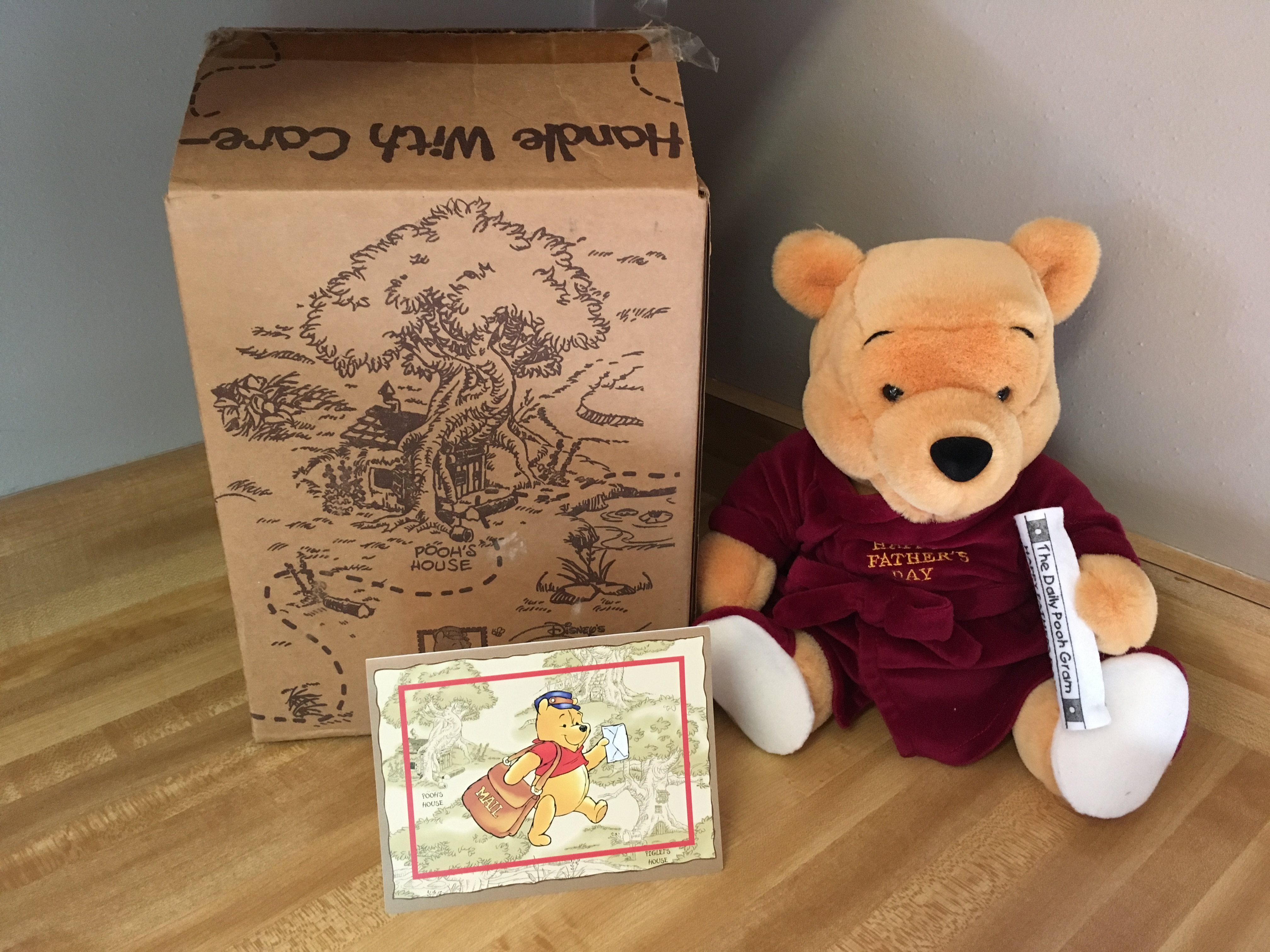 Father's Day Pooh-Gram with box and card