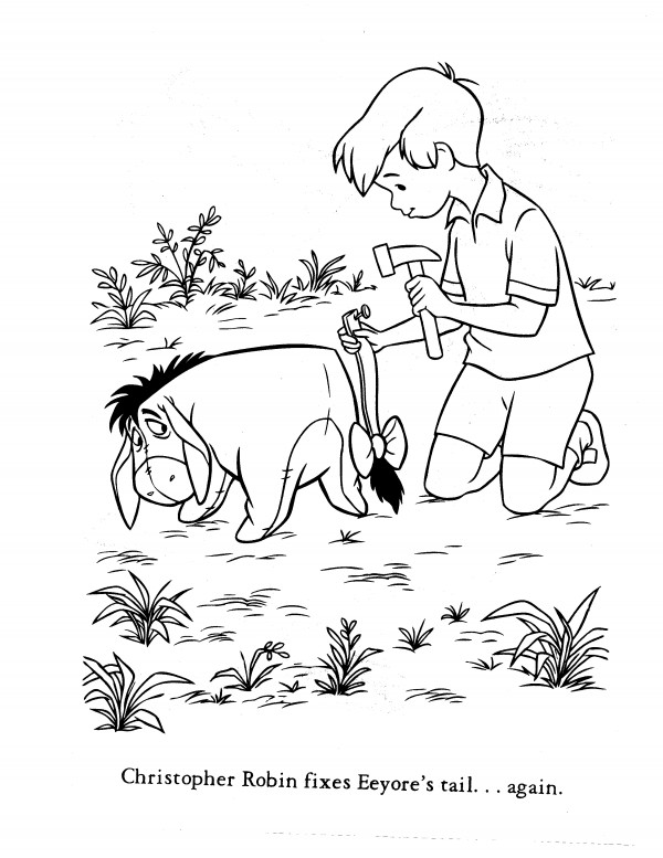 christopher robin coloring pages - Robin Coloring Pages