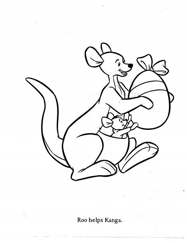 kanga and roo coloring pages - photo#23