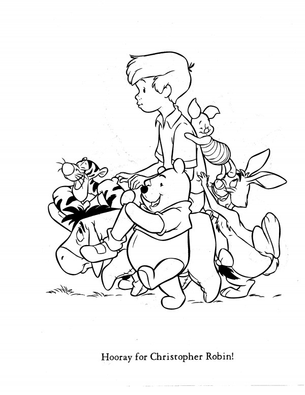christopher robin coloring pages - Winnie The Pooh Coloring Pages 2