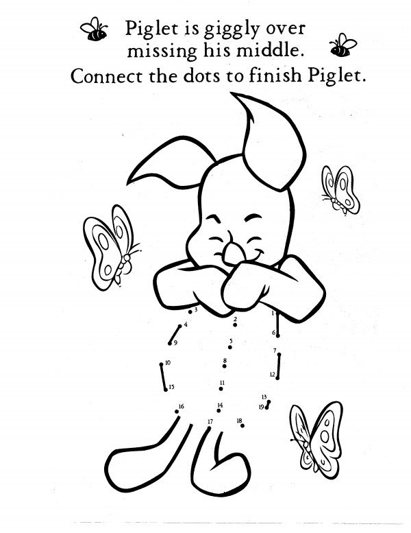 piglet coloring activity pages