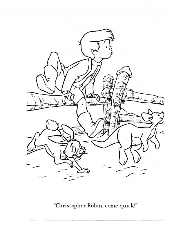 Christopher Robin Coloring Pages Free Downloads Guy And The