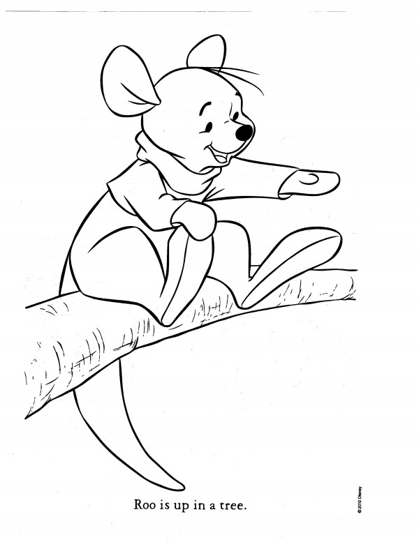Kanga amp Roo Coloring Pages Most