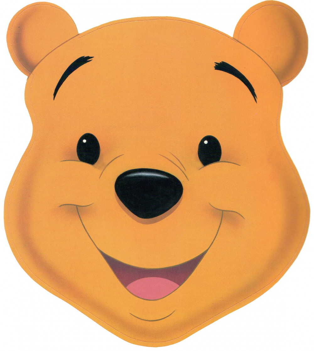 Downloadable Printable Pooh Mask Most Pooh