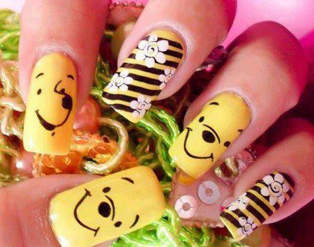Most Pooh Love Fantastic Pooh Nail Art