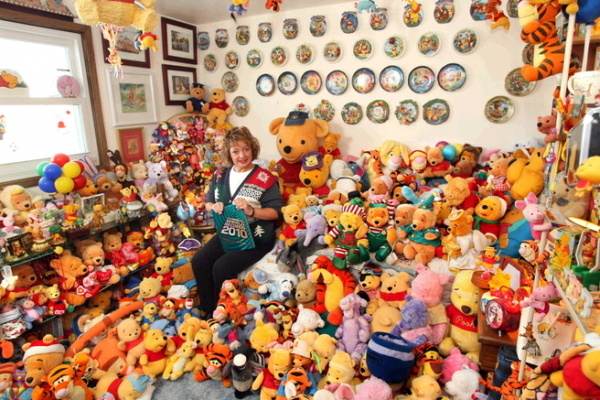Deb Hoffmann Guinness World Record Holder of Largest Pooh Collection of Memorabilia