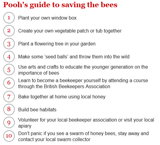 Pooh's guide to saving the bees