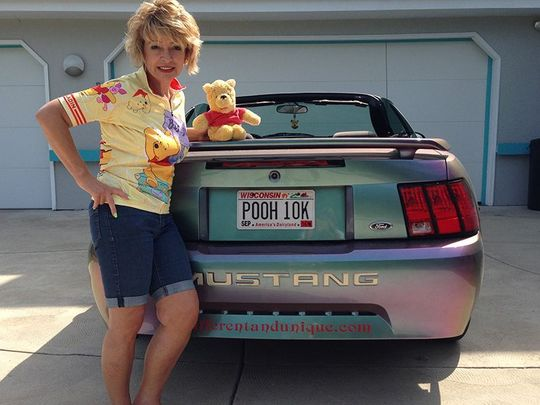 Deb Hoffmann Guinness World Record Holder of Largest Winnie the Pooh Memorabilia